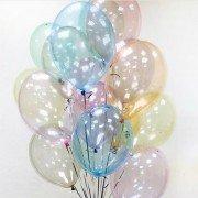 Воздушные шарики кристалл разноцветные