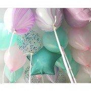 """Комплект шаров под потолок """"Настроение праздника"""" микс из 10 шт."""