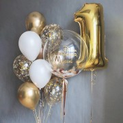"""Шарики на день рождения 1 годик """"Золотой ребенок"""""""