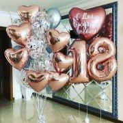 Шарики на день рождения 18 лет цвета розовое золото