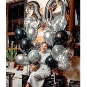 """Шары на день рождения 30 лет """"В серебре"""""""