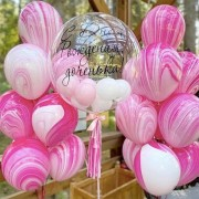 """Шары на день рождения дочке """"Магия розового"""""""