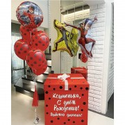 """Набор шаров Леди Баг """"С днем рождения"""""""