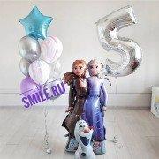 Комплект шаров в стиле Холодное сердце на день рождения девочки