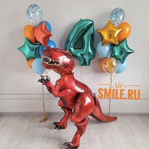 Воздушные шары с динозаврами