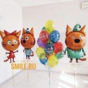 """Набор шаров Три кота """"Семья"""" на день рождения"""