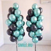 Облако воздушных шаров зеленого и черного цвета, 2 шт