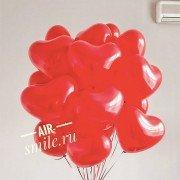 Шарики на 8 марта Красные латексные сердца, 20 шт