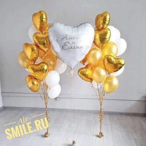 Воздушные шары на свадьбу белого цвета