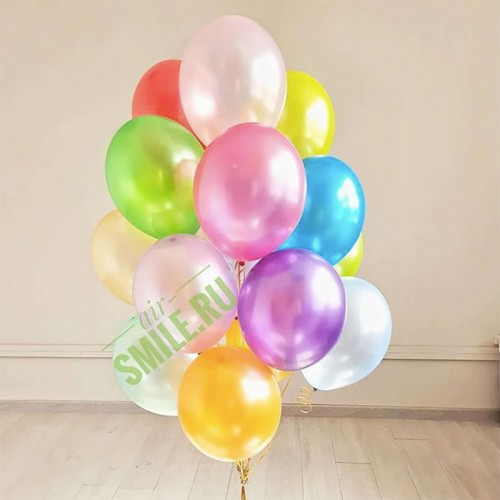 Воздушные шарики металлик ассорти