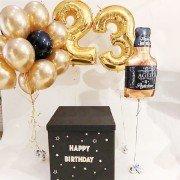 Шары для взрослых на день рождения золотого цвета