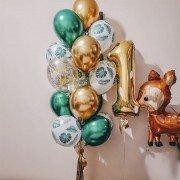 """Воздушные шары 1 год """"Олененок"""""""