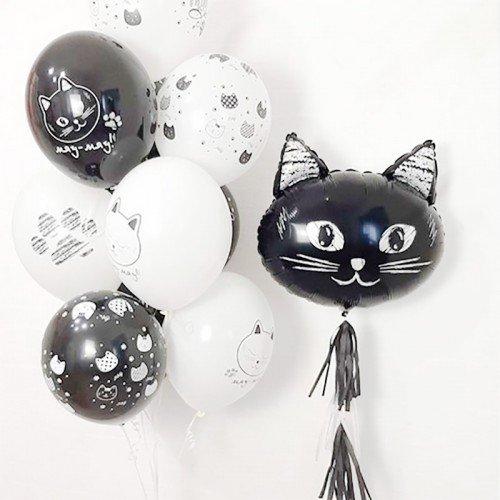 Воздушный шар голова кота