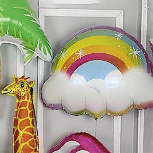 Воздушный шар радуга и облако