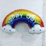 Фольгированный шар Радуга в облаках HAPPY DAY