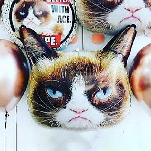 Воздушный шар фигура сердитая кошка