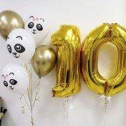Гелевые шары на 10 лет девочке с пандами