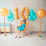"""Шары девочке на день рождения 10 лет """"Исполняя желания"""""""