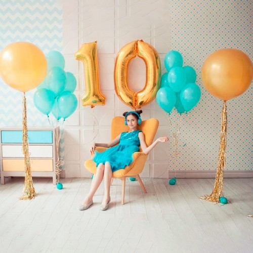 Заказать шары на 10 лет девочке