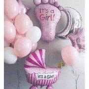 """Украшение шарами на рождение девочки """"Важный день"""""""