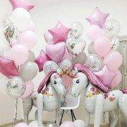 """Воздушные шарики на рождение девочки """"Мечты сбываются"""""""