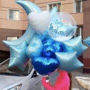 Шарики на рождение мальчика голубого цвета с баблс