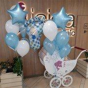 """Воздушные шары на рождение мальчика """"Бейби"""""""