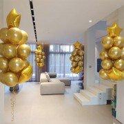 Шарики директору на день рождения золотого цвета