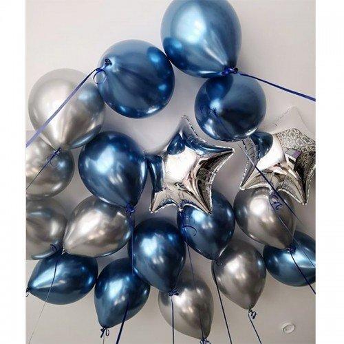 Шары на день рождения начальнику синего цвета
