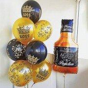 """Воздушные шары для босса на день рождения """"Мужской набор"""""""