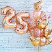 """25 лет день рождения шарики """"Вау"""""""
