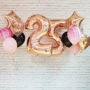 """Гелевые шары 25 лет """"Счастливого дня рождения"""""""