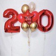 """Шары 20 лет день рождения """"Цвета молодости"""""""