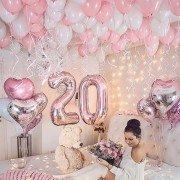"""Шары на день рождения 20 лет девушке """"В невесомости"""""""