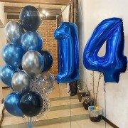 Шарики 14 лет цифры с шарами для сына синего цвета