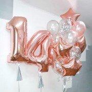 """Шарики на день рождения девочке 14 лет """"Прекрасный возраст"""""""