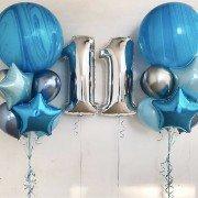 Шары для мальчика 11 лет небесного голубого цвета