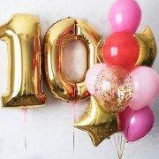 """Гелевые шары на 10 лет """"Яркое впечатление"""""""