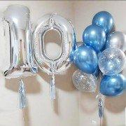 """Воздушные шары на 10 лет """"Магия синего"""""""