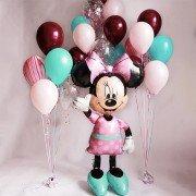 Композиция из шаров на 7 лет девочке с Минни Маус