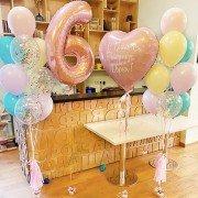 """Шарики на день рождения девочке 6 лет """"Карнавал красок"""""""