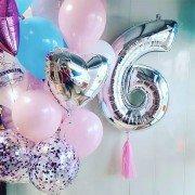 """Воздушные шары для девочки 6 лет """"Феерия красок"""""""