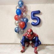 Воздушные шары на 5 лет мальчику с Человеком-пауком