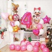 """Композиция из шаров на 4 года девочке """"Кукольный театр"""""""