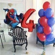 """Композиция из шаров на 4 года мальчику """"Тот самый паук"""""""