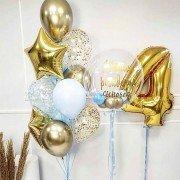 """Набор шаров для мальчика 4 года """"Нежное утро"""""""