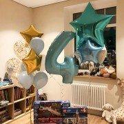 """Шары на день рождения 4 года """"Звезда"""""""