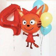 Воздушные шары 4 года девочке с Карамелькой