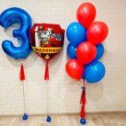 """Шары на день рождения мальчику 3 """"Маршал"""""""