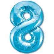 Шар цифра 8 голубого цвета